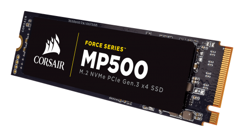 SSD Corsair Force MP500 series NVMe (PCIe Slot) M.2 SSD 480GB; Up to 3,000MB/s Sequential Read, Up to 2,400MB/s Sequential Write; Up to 250K IOPS Random Read, Up to 210K IOPS Random Write, Compatible with Lenovo Legion Y520/Y720/Y920