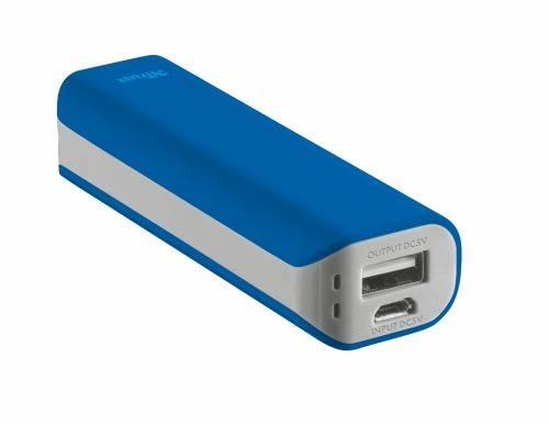 Зарядно устройство TRUST Primo Power Bank 2200 Portable Charger - blue