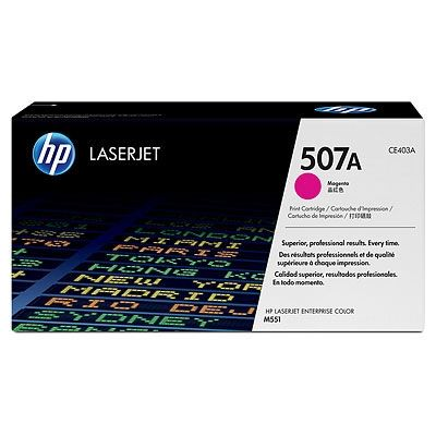 HP507A/CE403A Black LaserJet Toner Cartridge 6K