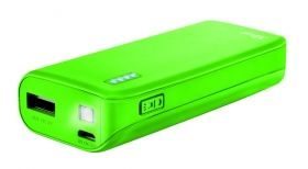 Зарядно устройство TRUST Primo Power Bank 4400 Portable Charger - Lime