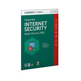 Програмен продукт с лицензен стикер Kaspersky Internet Security 2017 Multi-Device - 1 device, 1 year + 3 months, Box