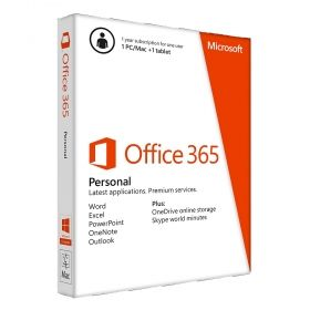 Office 365 Personal 32-bit/x64 English Subscr 1YR Eurozone Medialess QQ2-00038