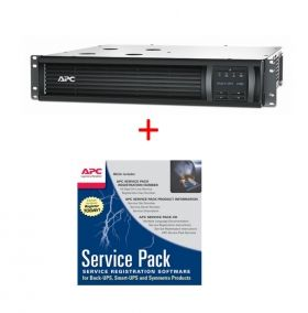 Непрекъсваем ТЗИ APC Smart-UPS 1500VA LCD RM 2U 230V + APC Service Pack 3 Year Warranty Extension (for new product purchases)