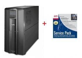 Непрекъсваем ТЗИ APC Smart-UPS 3000VA LCD 230V + APC Service Pack 3 Year Warranty Extension (for new product purchases)