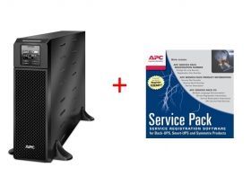Непрекъсваем ТЗИ APC Smart-UPS SRT 5000VA 230V + APC Service Pack 3 Year Warranty Extension (for new product purchases)