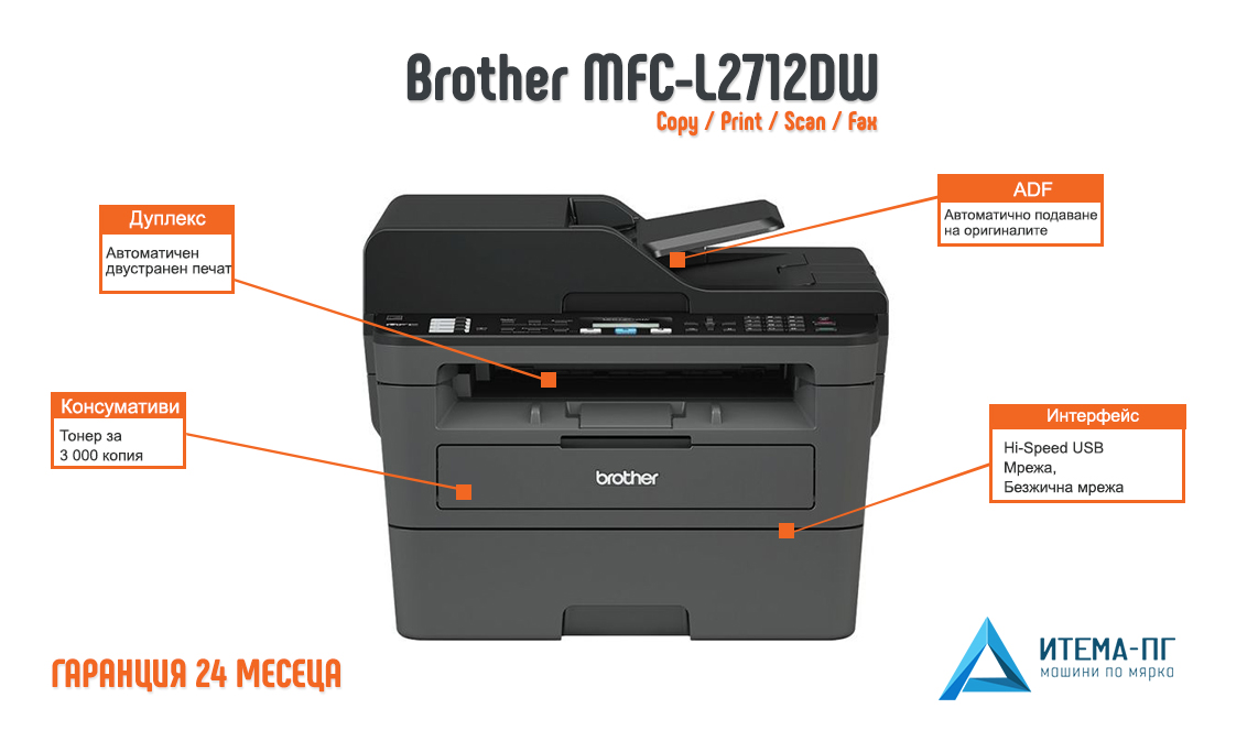 BROTHER MFC-L2712DW DRIVER FOR WINDOWS