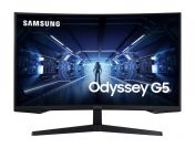 "Монитор Samsung LC32G55TQ, 32"" CURVED VA, 1000R, 144 Hz, 1 ms GTG, 2560 x 1440, HDR10, 250 cd/m2, 2500:1 Contrast, Mega DCR, Eye Saver, Flicker Free,FreeSync Premium, Black Equalizer, Low Input Lag, DP 1.2, HDMI 2.0, Headphone, 178°/178°, Black"