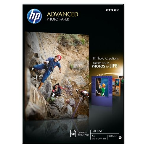 Хартия HP Advanced Glossy Photo Paper-50 sht/A4/210 x 297 mm