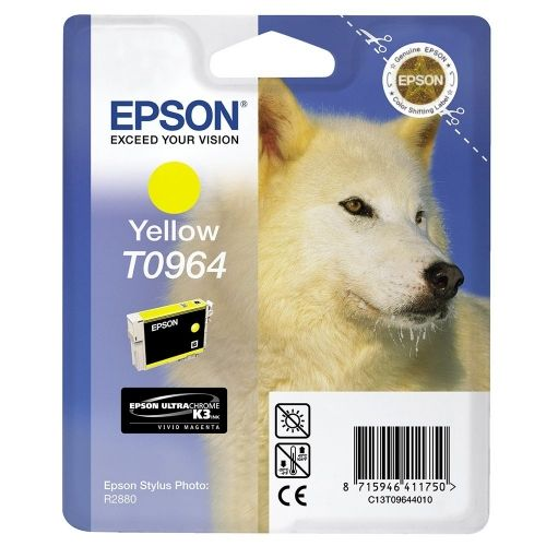 Консуматив Epson T096 Yellow Cartridge - Retail Pack (untagged) for Epson Stylus Photo R2880