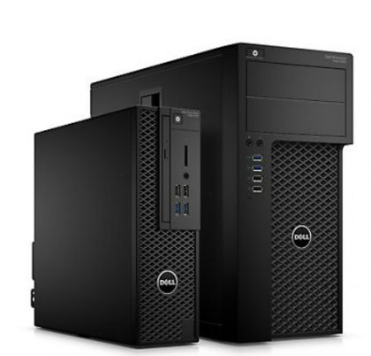 Работна станция Dell Precision T3620 MT, Intel Core i7-7700 (3.6Ghz up to 4.2Ghz, 8MB), 8GB 2400MHz DDR4, 1TB HDD, Integrated SATA Controller, DVD+/-RW, NVIDIA Quadro K420 2GB, Intel vPro, Mouse & Keyboard, Windows 10 Pro, 3Y NBD