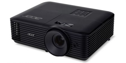 Мултимедиен проектор Acer Projector X168H, DLP, WUXGA (1920x1200), 3500 ANSI Lumens, 10000:1, 3D, HDMI, VGA, RCA, Audio in, DC Out (5V/2A, USB-A), Speaker 3W, Bluelight Shield, Sealed Optical Engine, LumiSense, 2.8kg, Black