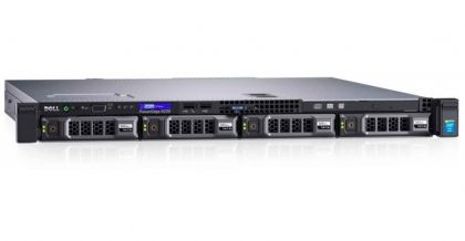 Сървър Dell PowerEdge R230, Intel Xeon E3-1220v6 (3.0GHz, 8M), 8GB 2400 UDIMM, 1TB SATA, Chassis with up to 4, 3.5 Cabled Hard Drives and Embedded SATA, DVD+/-RW, iDRAC8 Basic, 3Y NBD