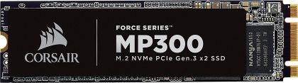 SSD Corsair Force MP300 Series NVMe (PCIe Slot) M.2 2280 SSD 480GB 3D TLC NAND; Up to 1,600MB/s Sequential Read, Up to 1,040MB/s Sequential Write; Up to 220K IOPS Random Read, Up to 200K IOPS Random Write, Compatible with Lenovo Legion Y530