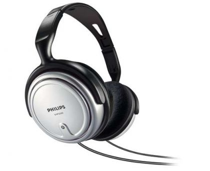 Philips HiFi слушалки, TV headphone 6m cable, 3.5-6.3mm adaptor, volume control
