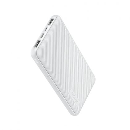 Външна батерия TRUST Primo Fast Ultra-thin Powerbank 10000 mAh White