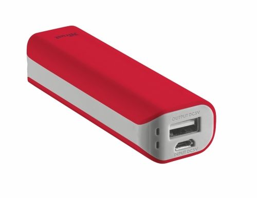 Външна батерия TRUST Primo Power Bank 2200 Portable Charger - red