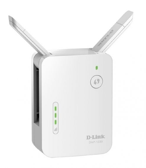 Безжичен усилвател D-Link Wireless Range Extender N300 With 10/100 port and external antenna