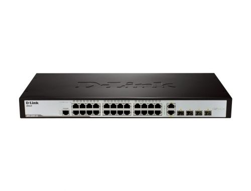 Комутатор D-Link xStack 24-port 10/100 Layer 2 Managed Switch + 2x Combo 10/100/1000Base-T/100/1000 SFP + 2x 100/1000 SFP