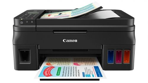Мастилоструйно многофункционално устройство Canon PIXMA G4400 All-In-One, Fax, Black + Canon Photo Paper Variety Pack A4 & 10 x 15cm (VP-101)