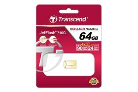 Памет Transcend 64GB JETFLASH 710, USB 3.1, Gold Plating