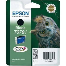Консуматив Epson T0791 Black Ink Cartridge - Retail Pack (untagged)