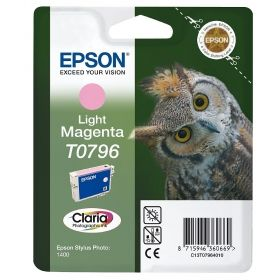 Консуматив Epson T0796 Light Magenta Ink Cartridge - Retail Pack (untagged) for Stylus Photo 1400, Epson Stylus Photo P50