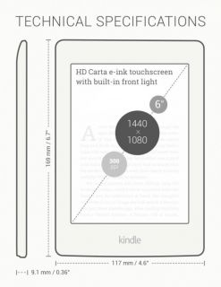 E-Book Reader Kindle Paperwhite 2015 White