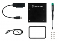 "Transcend SSD Conversion Kit (Шейна) 2.5"" to 3.5"" case SATA/USB 3.0, Black"