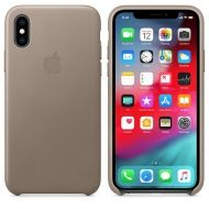 Калъф Apple iPhone XS Leather Case - Taupe
