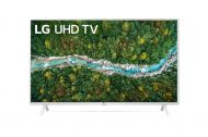 "Телевизор LG 43UP76903LE, 43"" 4K IPS UltraHD TV 3840 x 2160, DVB-T2/C/S2, webOS Smart TV, ThinQ AI, Quad Core Processor 4K, WiFi 802.11ac, HDR10, HDR10 Pro, AI Sound, Voice Controll, Miracast / AirPlay 2,  HDMI, CI, LAN, USB, Bluetooth, 2 pole Stand, Whit"