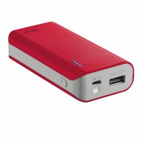 Външна батерия TRUST Primo Power Bank 4400 Portable Charger - red