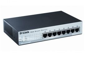 Комутатор D-Link 8-port 10/100 Smart PoE Switch