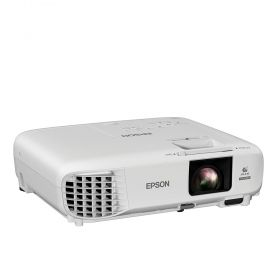Мултимедиен проектор Epson EB-U05, WUXGA, Full HD (1920 x 1200, 16:10), 3 400 ANSI lumens, 15 000:1, Composite in, Cinch audio in, USB, 2x HDMI, VGA, WLAN (optional), Lamp warr: 12 months or 1000 h, White
