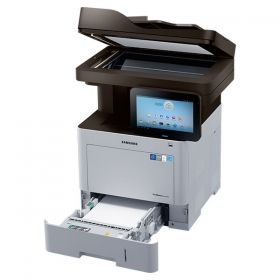 "Laser MFP Samsung SL-M4580FX Print/Scan/Copy/Fax/ Print 45 ppm, 6.5ms, Res. 1200x1200/ Scan Res. 4,800 x 4,800dpi(Enhanced)/ Copy 45 cpm./ 1GB Memory / 550 paper input tray/ USB 2.0/ Gigabit Ethernet 10/100/1000 Base TX, 10.1"" LCD Touch Display"